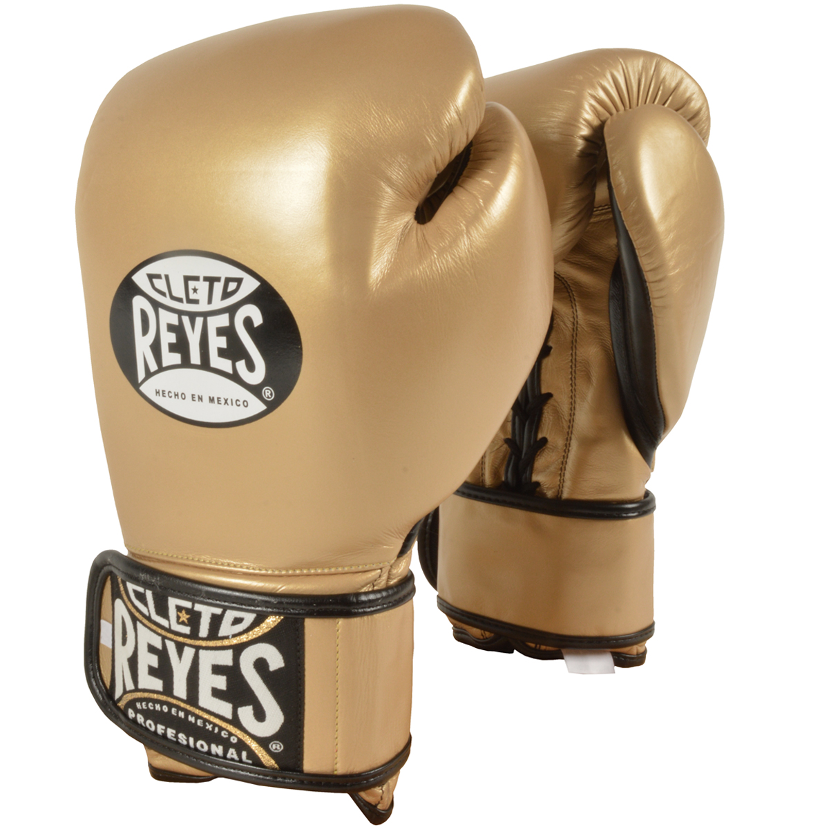 Cleto Reyes Lace Up Hook And Loop Hybrid Training Boxing Gloves White