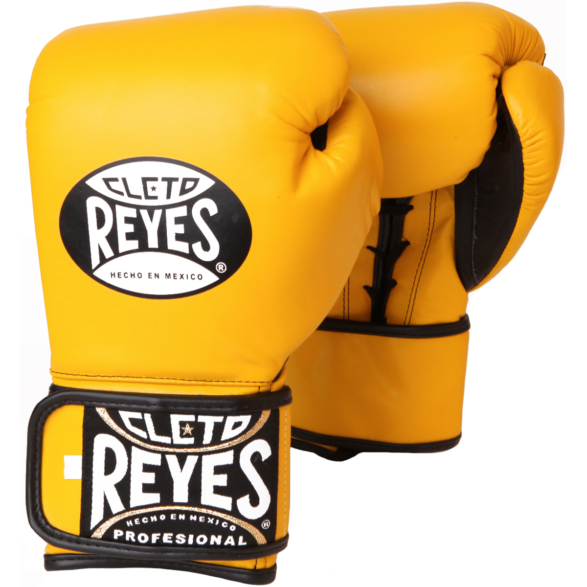 d78156ed8 Cleto Reyes Lace Up Hook and Loop Hybrid Boxing Gloves - Small - Yellow