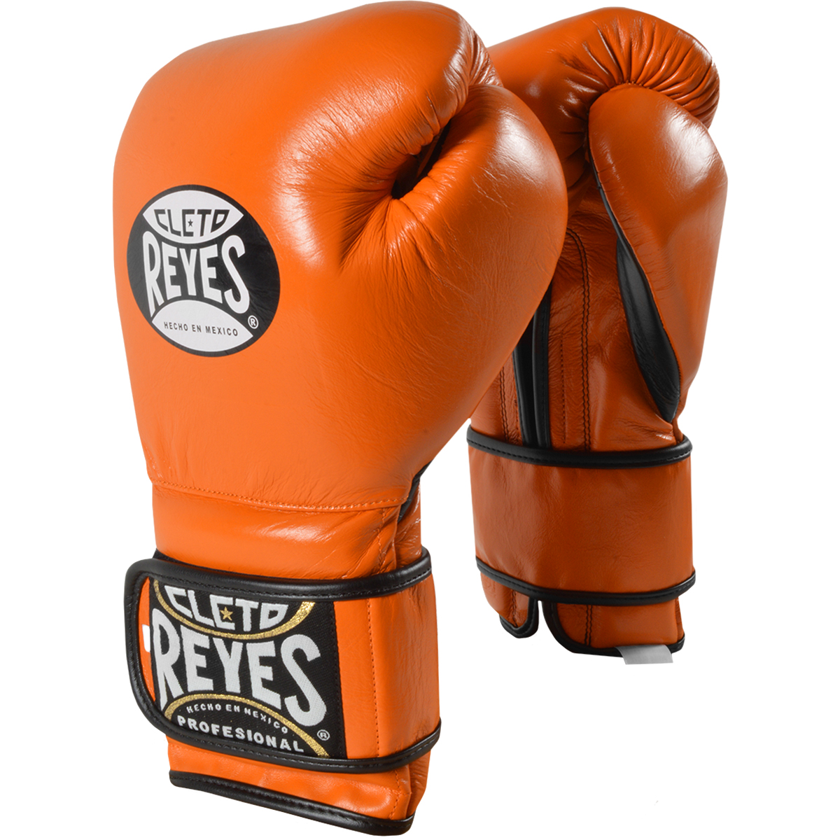 Details about Cleto Reyes Hook and Loop Leather Training Boxing Gloves -  Tiger Orange