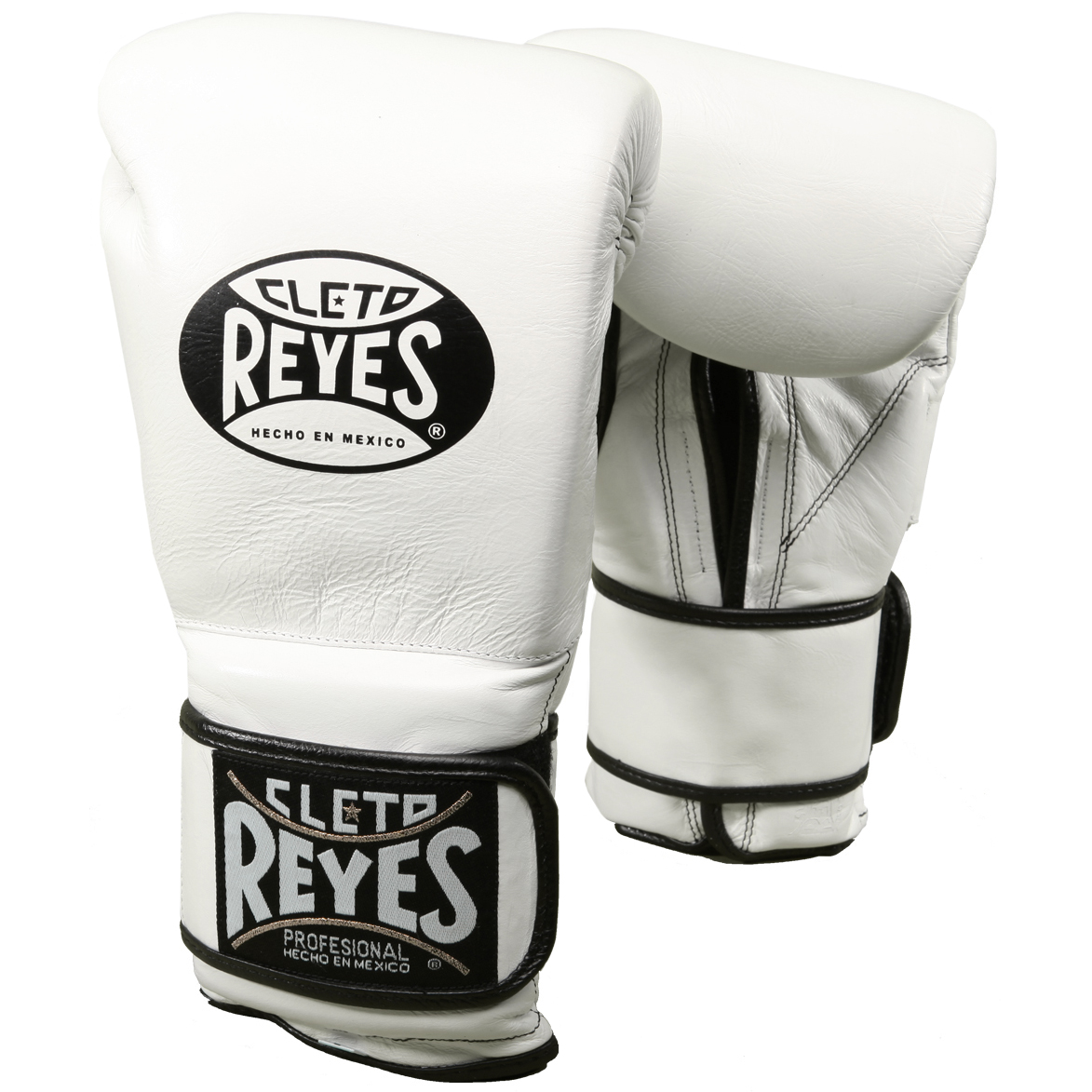 5ed8b1c795f Details about Cleto Reyes Hook and Loop Leather Training Boxing Gloves -  White