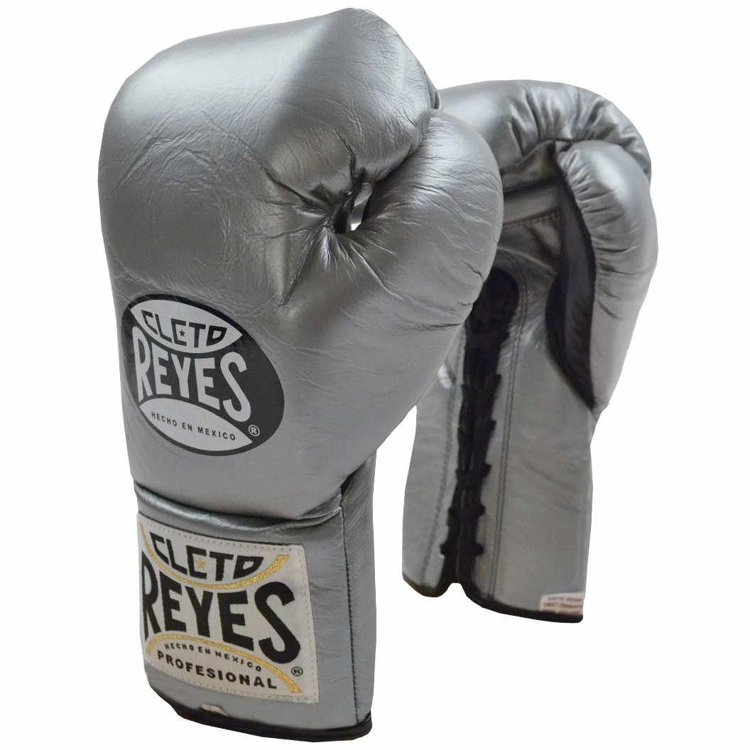 Cleto Reyes Official Lace Up Competition Boxing Gloves White