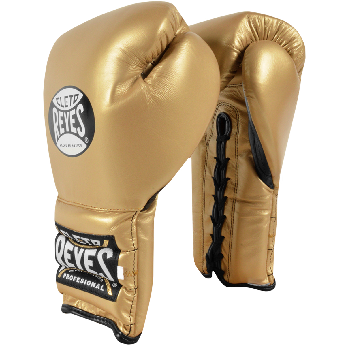 Solid Gold Cleto Reyes Lace Up Hook and Loop Hybrid Boxing Gloves