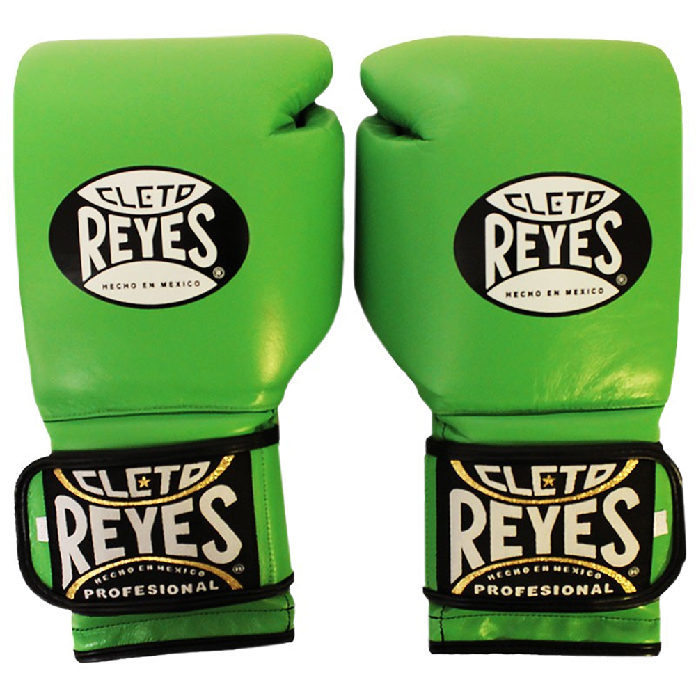 Mexican Flag 12 oz Cleto Reyes Hook and Loop Leather Training Boxing Gloves