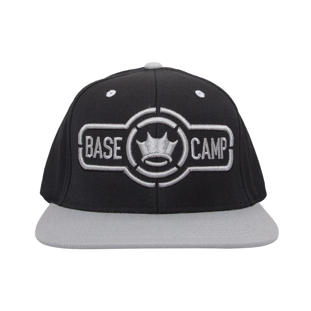 Dethrone Basecamp Snapback Hat - Black Gray  24a663c91ef6