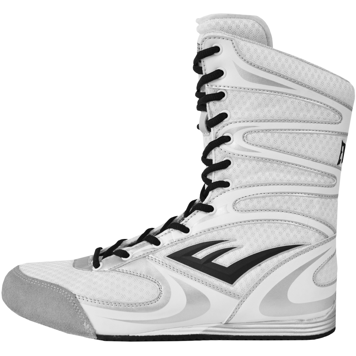 Everlast Contender High Top Boxing Shoes White Boots
