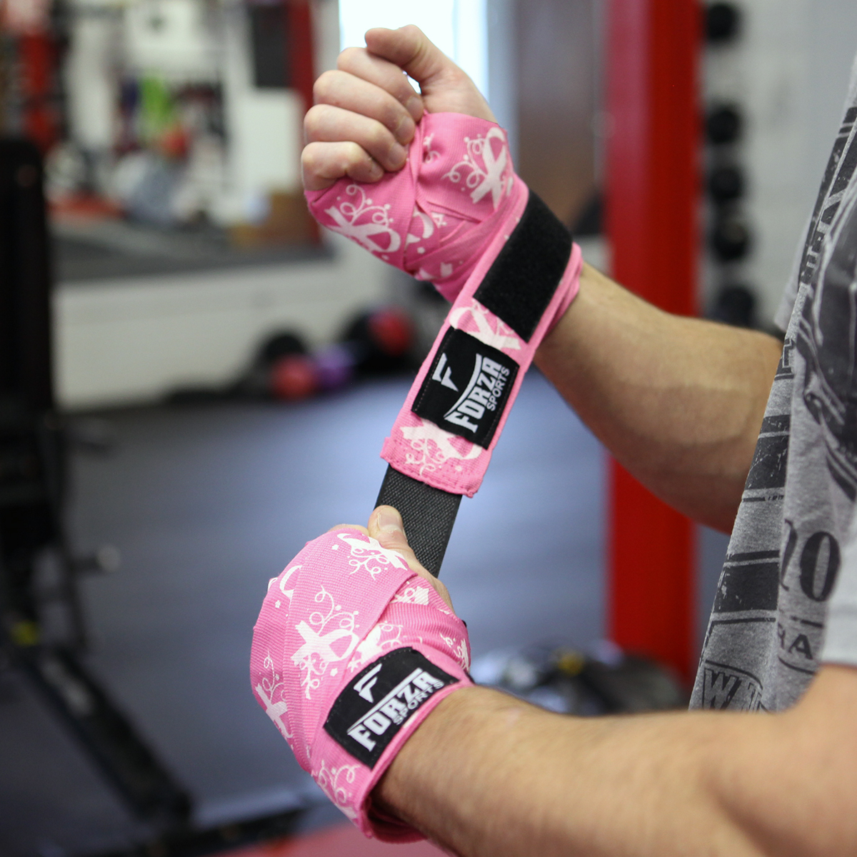 """Forza Sports 180/"""" Mexican Style Boxing and MMA Handwraps Spider Hot Pink"""