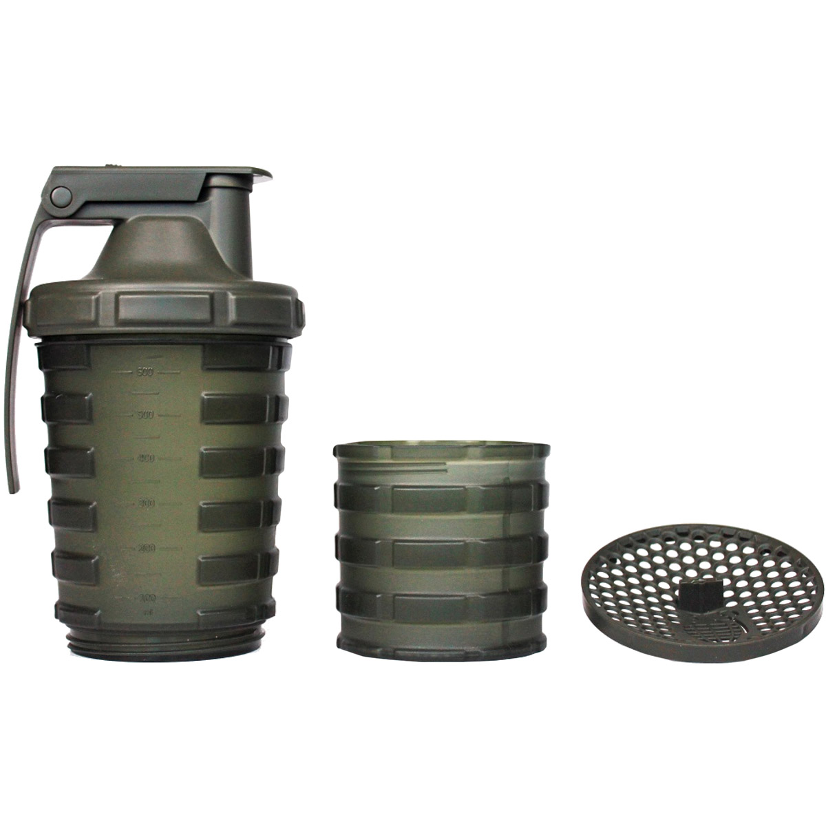 Protein Shaker Compartment: Grenade 20 Oz. Shaker Blender Mixer Bottle With 600ml