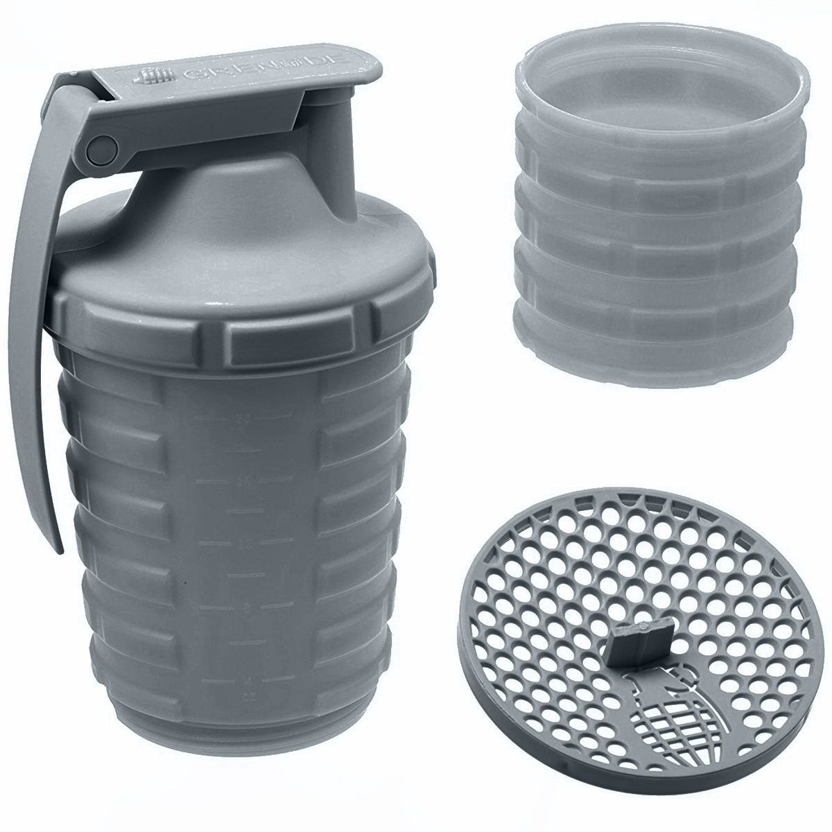 thumbnail 10 - Grenade-20-oz-Shaker-Blender-Mixer-Bottle-with-600ml-Protein-Cup-Compartment