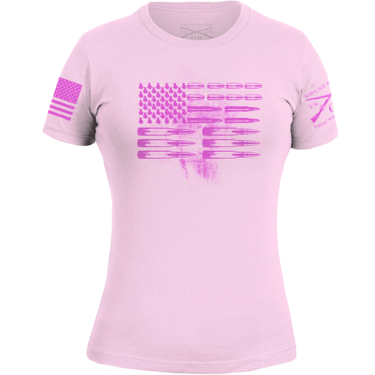 dfebc8bcb Grunt Style Women's Ammo Flag T-Shirt - Small - Pink
