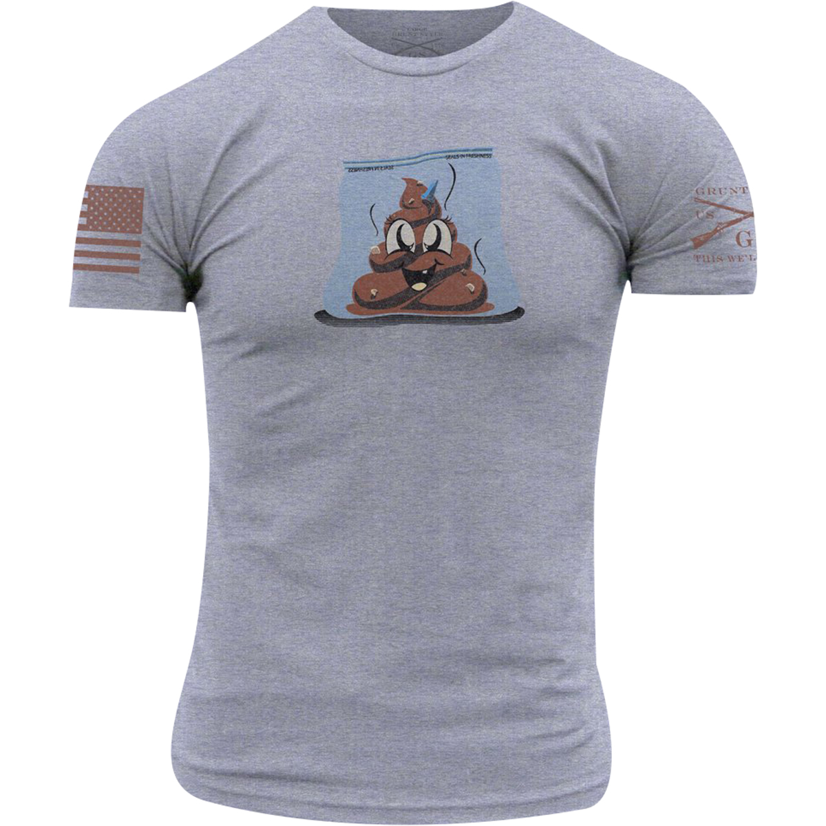 Heather Gray Grunt Style Sh*t Bag T-Shirt