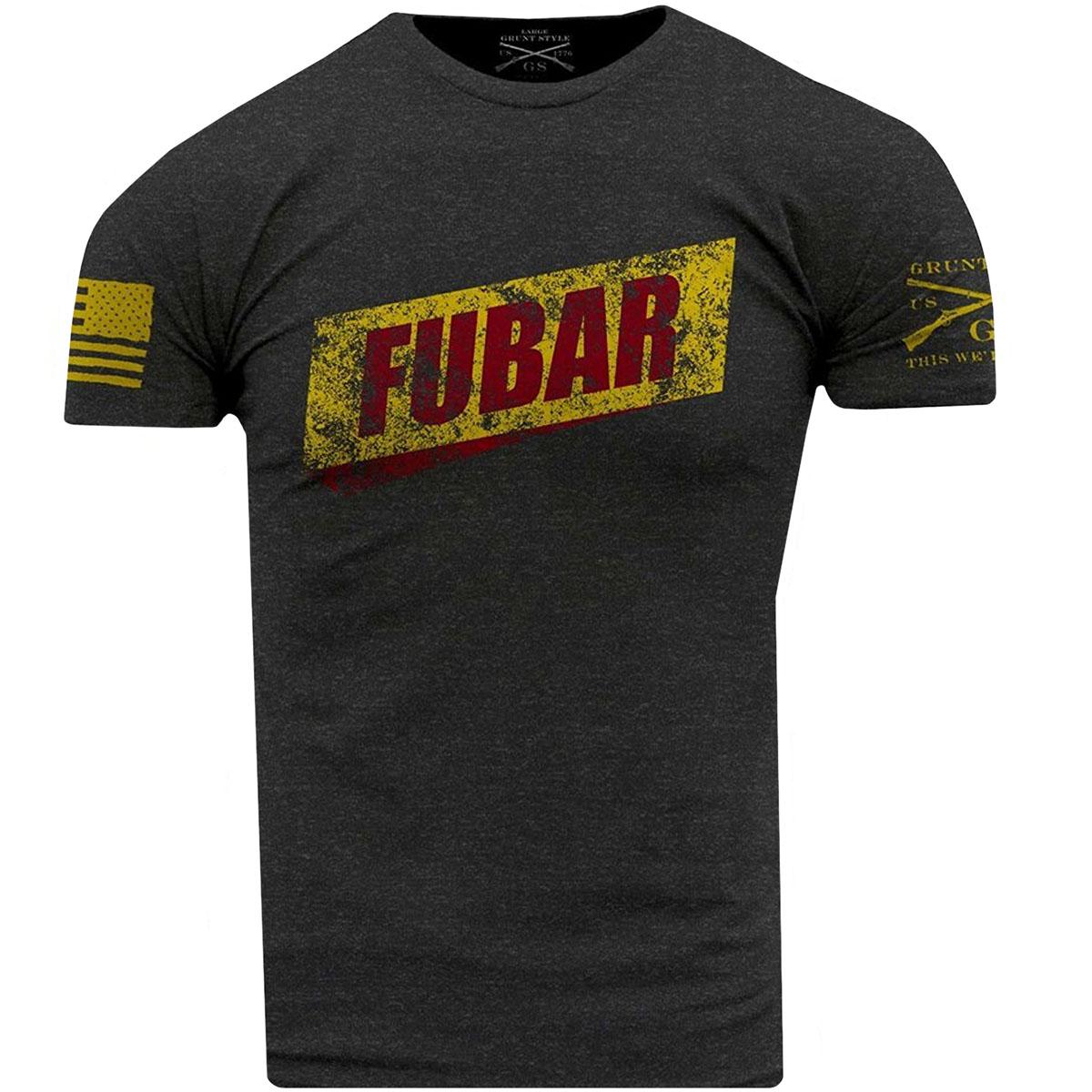 665d111c Details about Grunt Style FUBAR T-Shirt - Heather Gray