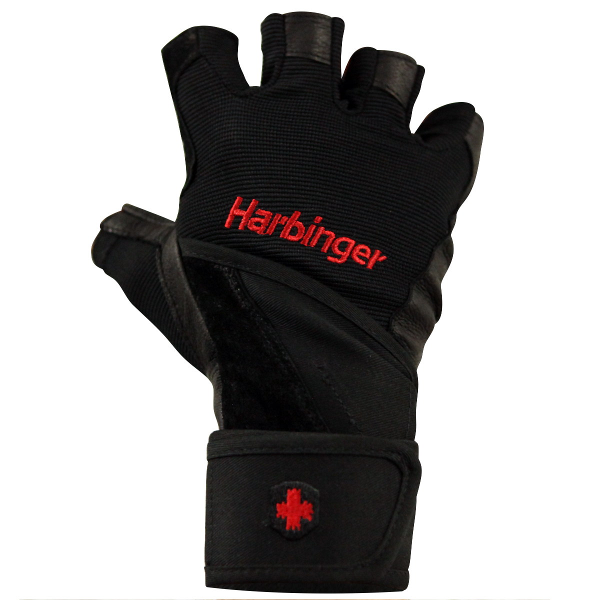 Harbinger-140-Ventilated-Pro-Wristwrap-Weight-Lifting-Gloves-Black