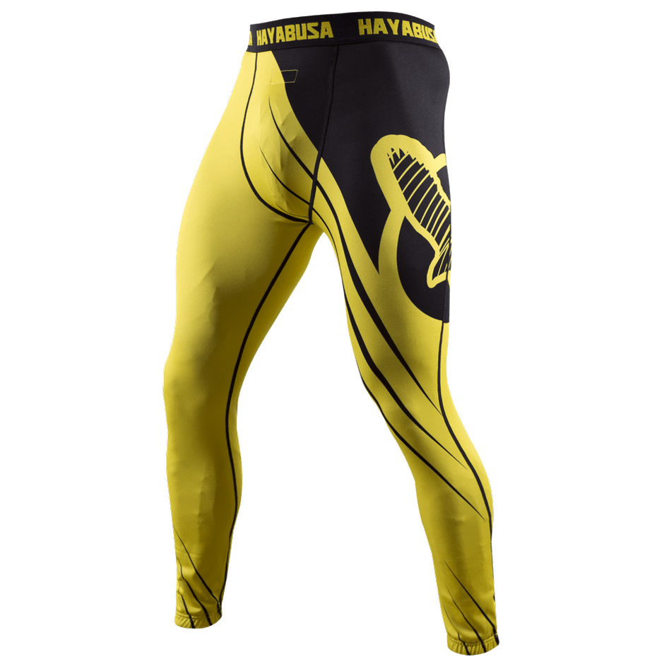 f9d7f89d31 Details about Hayabusa Recast Full Length Compression Pants - Yellow/Black-spats  mma grappling