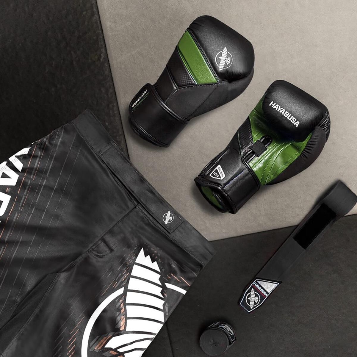 Hayabusa-T3-Dual-X-Hook-and-Loop-Closure-Vylar-Leather-Training-Boxing-Gloves thumbnail 14