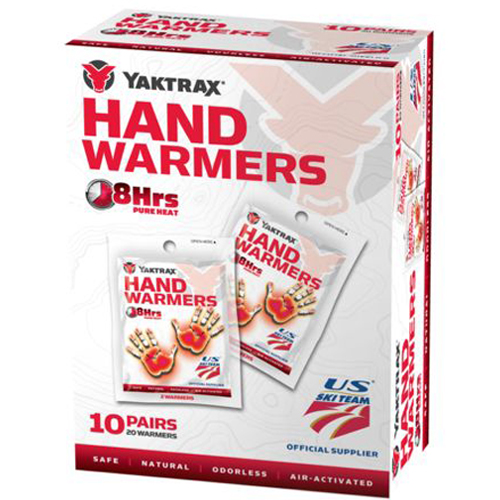 Yaktrax Air Activated 8 Hour Hand Warmers 10 Pairs