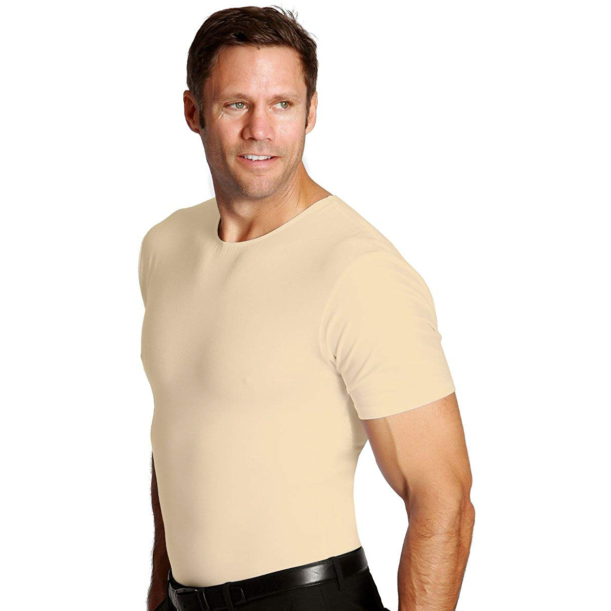 Insta-Slim-Crewneck-Firming-Compression-Slimming-Under-Shirt thumbnail 5