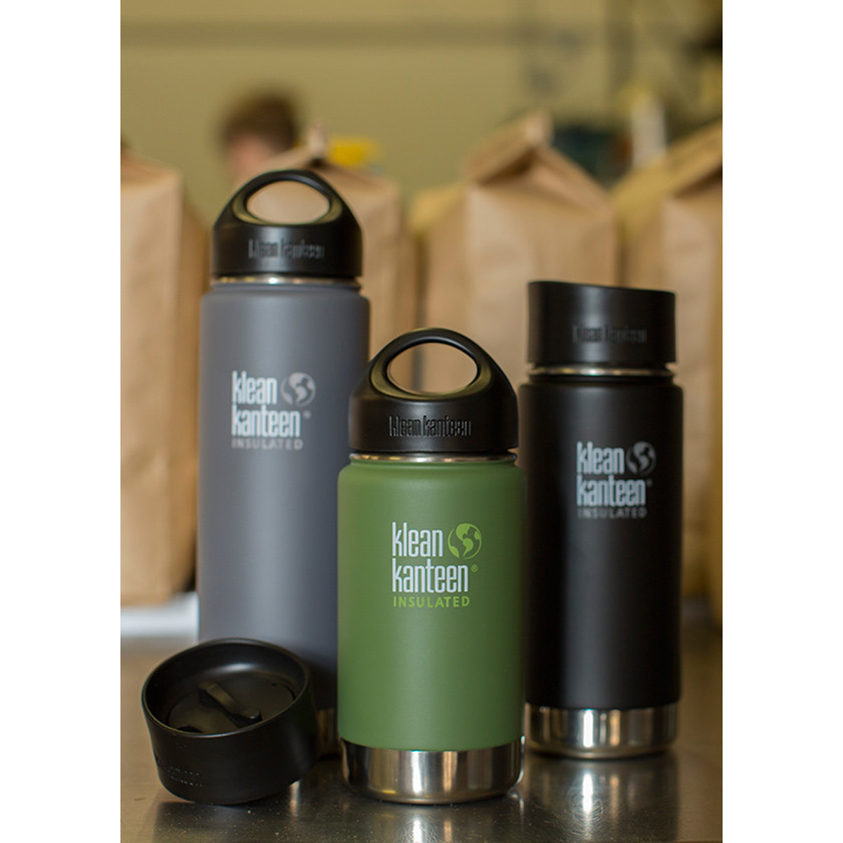 Klean Kanteen Wide Mouth 16 Oz Insulated Bottle With Cafe