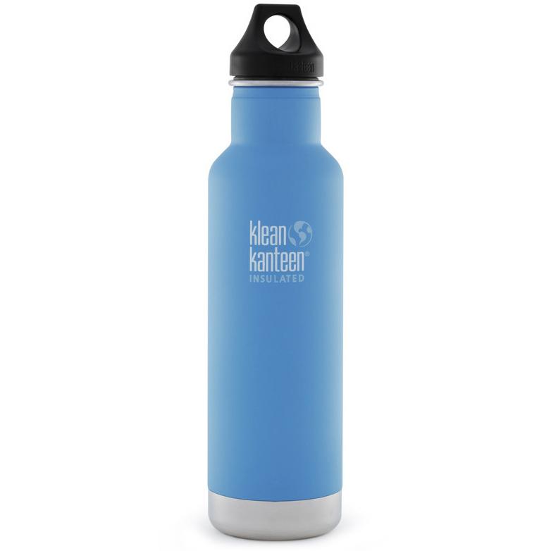 0016a1d401 Klean Kanteen Classic Insulated 20 oz. Bottle with Loop Cap - Quiet Storm
