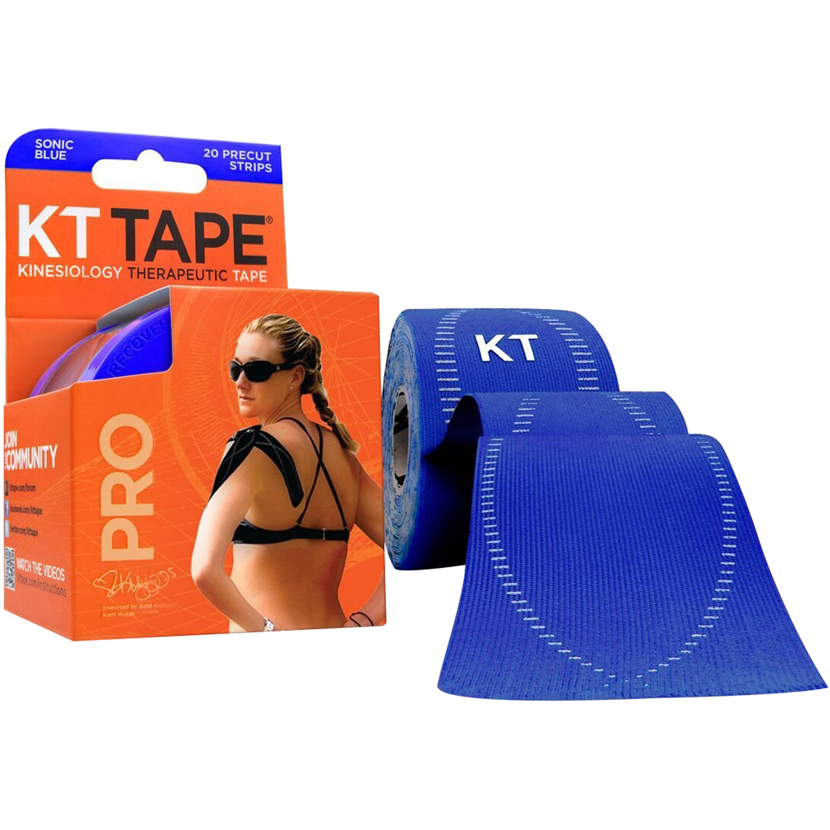 KT-Tape-Pro-10-034-Precut-Kinesiology-Therapeutic-Elastic-Sports-Roll-20-Strips thumbnail 18