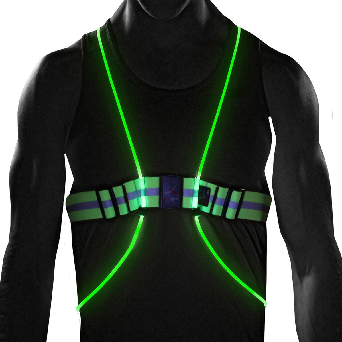noxgear tracer360 multicolored illuminated reflective visibility running vest ebay. Black Bedroom Furniture Sets. Home Design Ideas