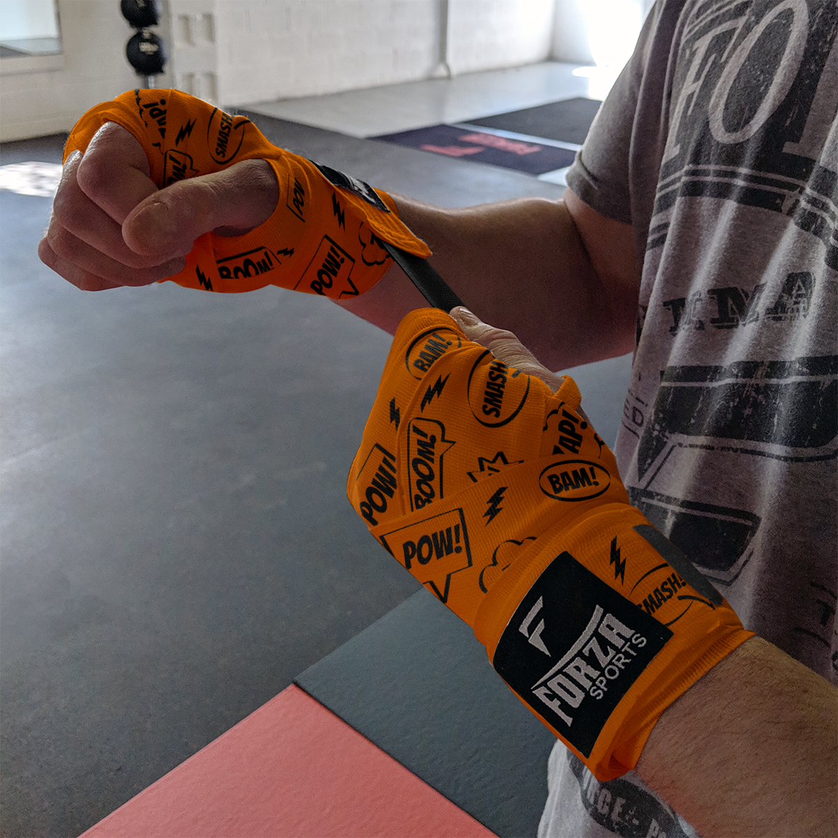 LITE ORANGE MEXICAN STYLE BOXERS WRIST /& HAND WRAPS SUPPORT 2.5m KIDS /& ADULT