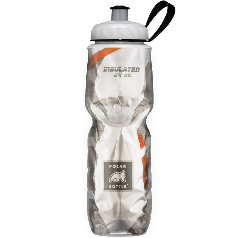 2fc62578f9 Details about Polar Bottle Sport Insulated 24 oz Water Bottle - Carbon  Fiber/Orange