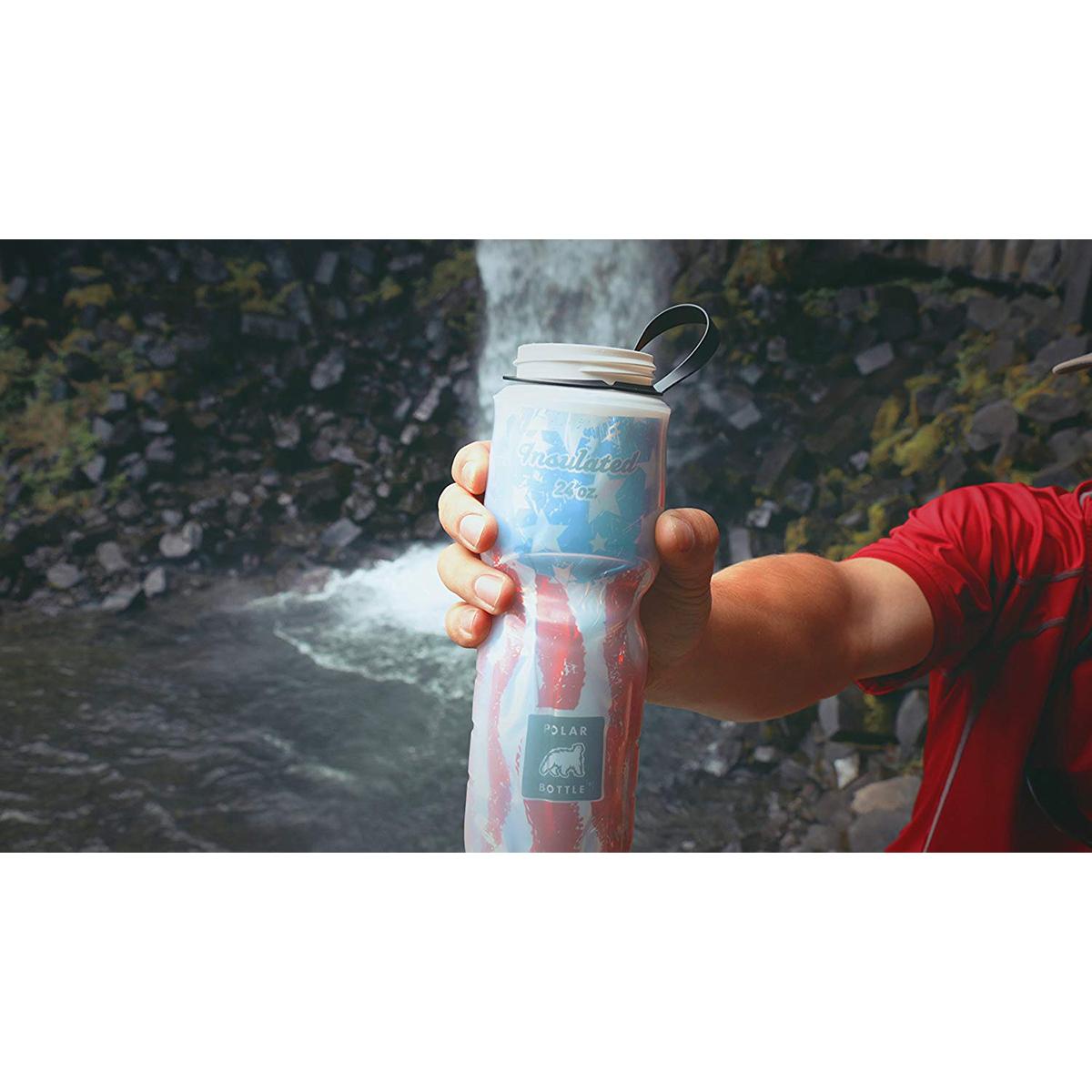 Polar Bottle 24 oz ZipStream Breakaway Insulated Squeezable Water Bottle