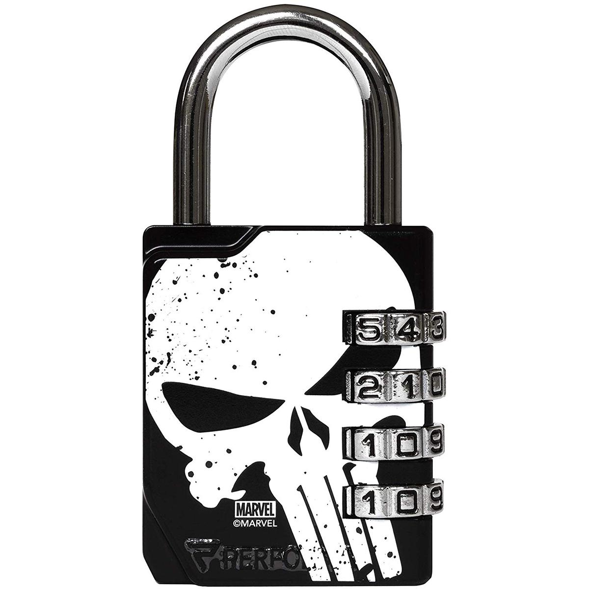 Black//Black Performa Ultra Premium Embossed 4-Dial Combination Gym Lock