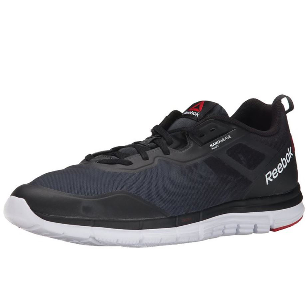 Reebok ZQuick Tempo Soul Running Shoes - 9 - Gravel/Black/White/Red