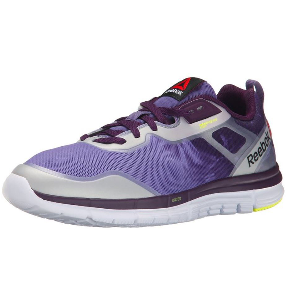2eaacd755777ee Reebok Women s ZQuick Tempo Soul Running Shoes - 8 -  Purple Orchid White Yellow