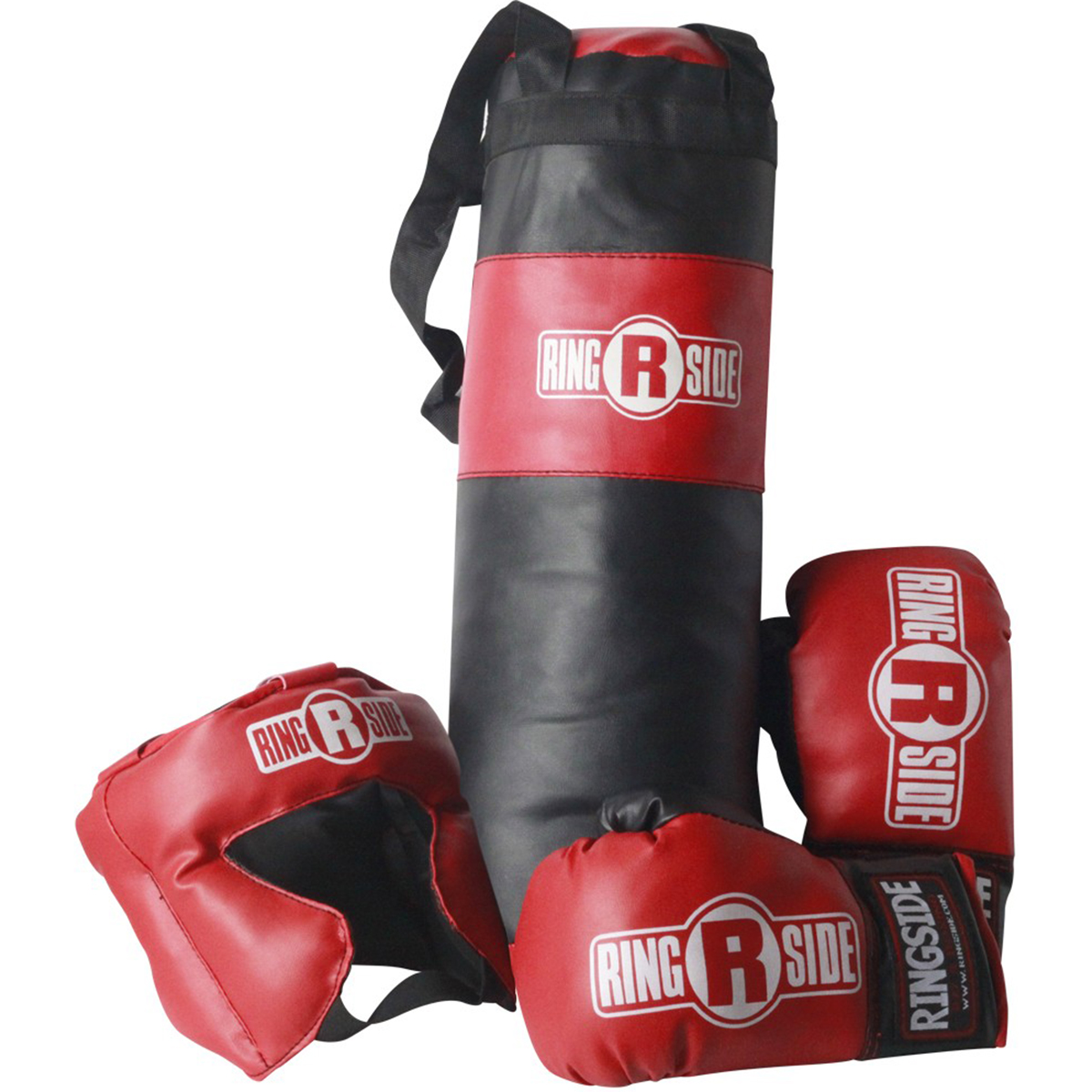2 PAIRS BOXING TRAINING PRACTICE GLOVES w// HEAD GEAR PROTECTION /& PUNCHING BAG