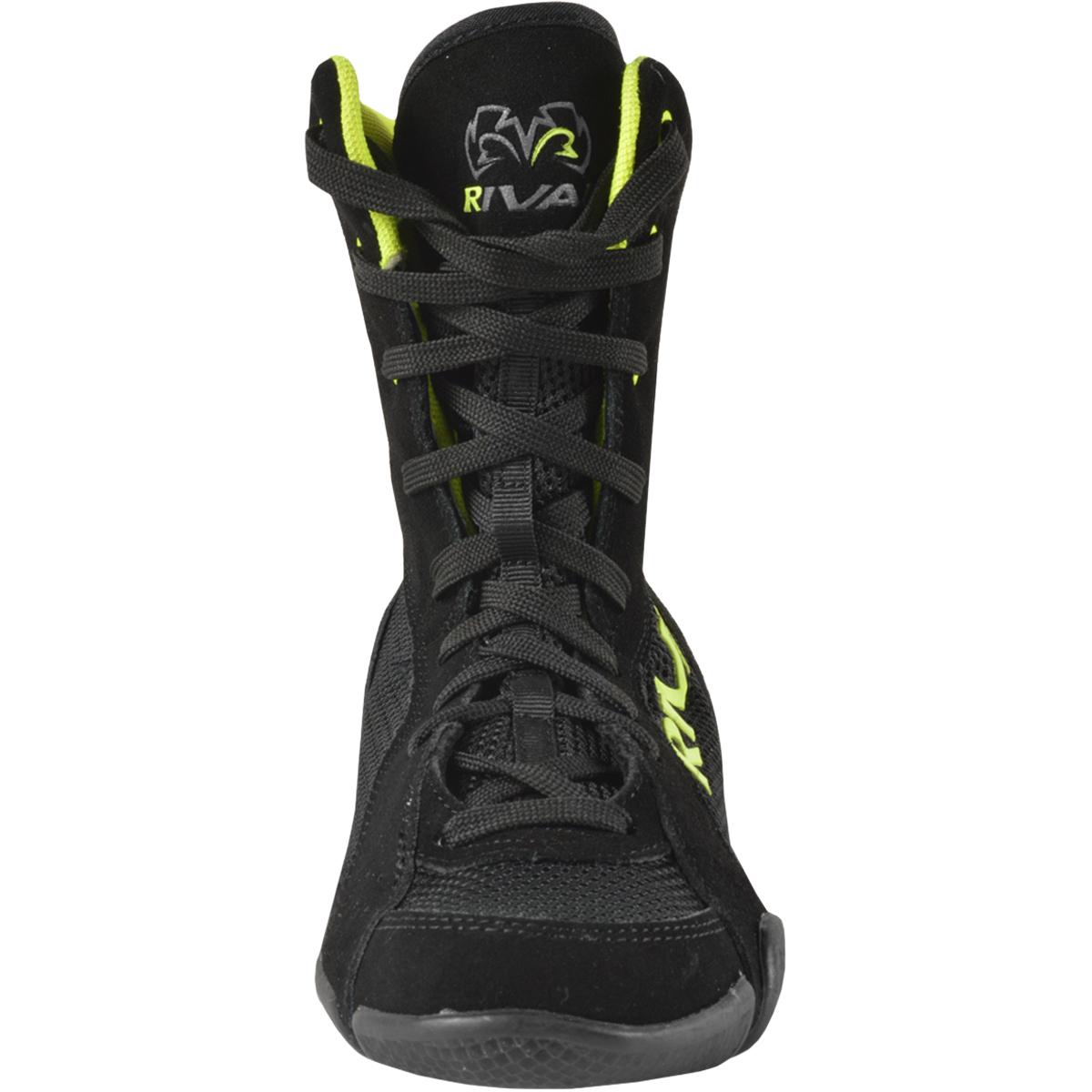 Black//Lime Green Rival Boxing Hi-Top Mesh Paneled RSX-ONE V2 Boots