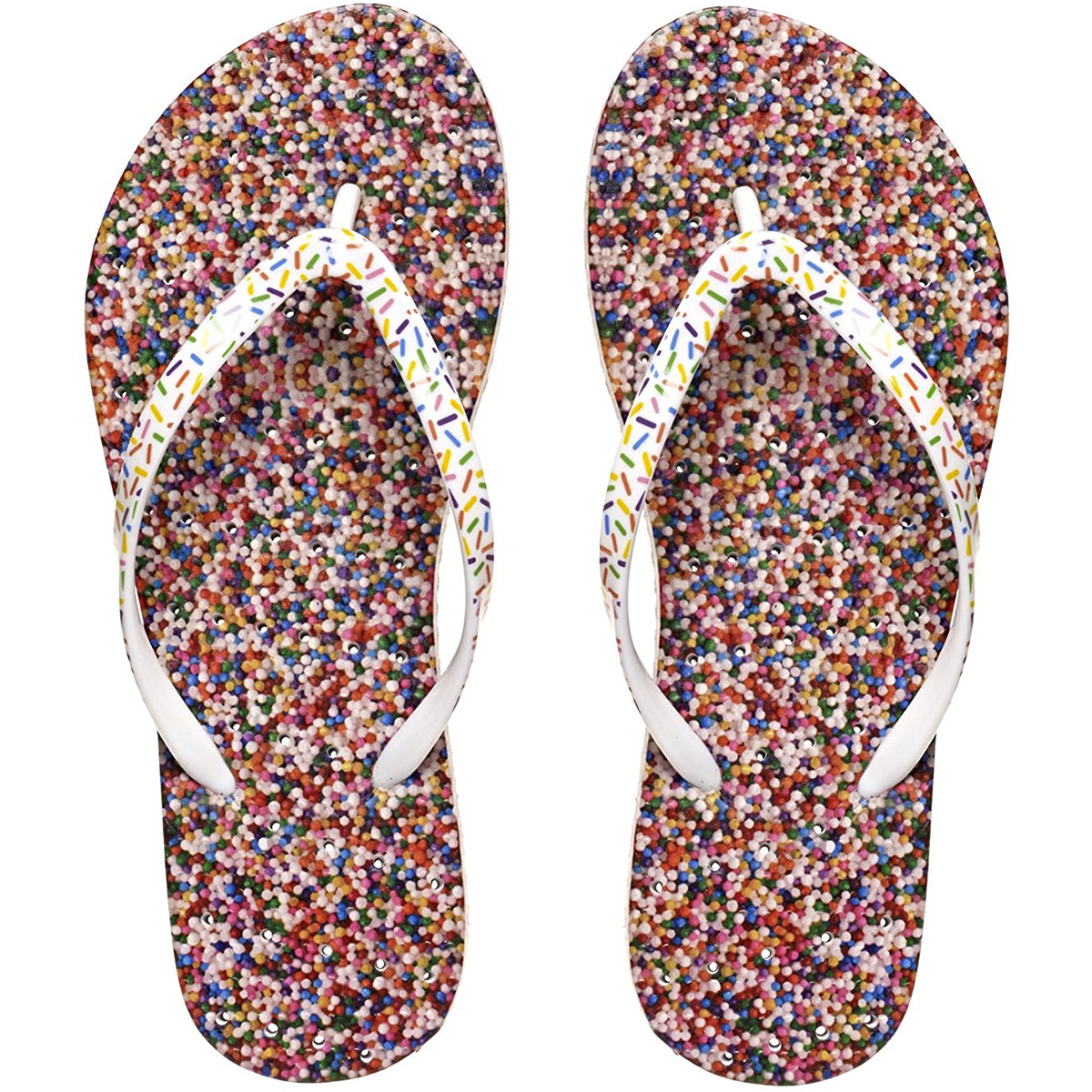 b55e41a0e Details about Showaflops Women s Antimicrobial Shower and Water Sandals -  Sprinkles