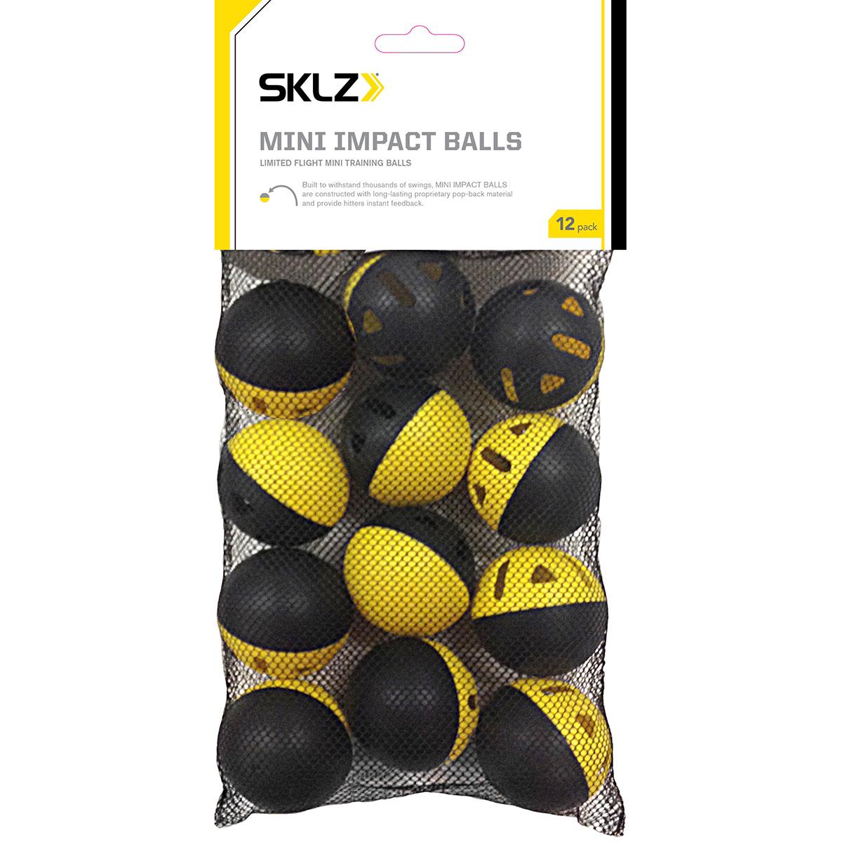 SKLZ Premium Impact Practice Baseballs 6-Pack Yellow