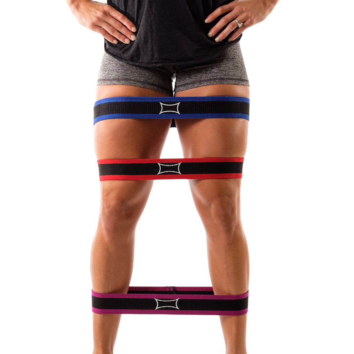 warm-up support Sling Shot Hip Circle Resistance Band by Mark Bell Purple