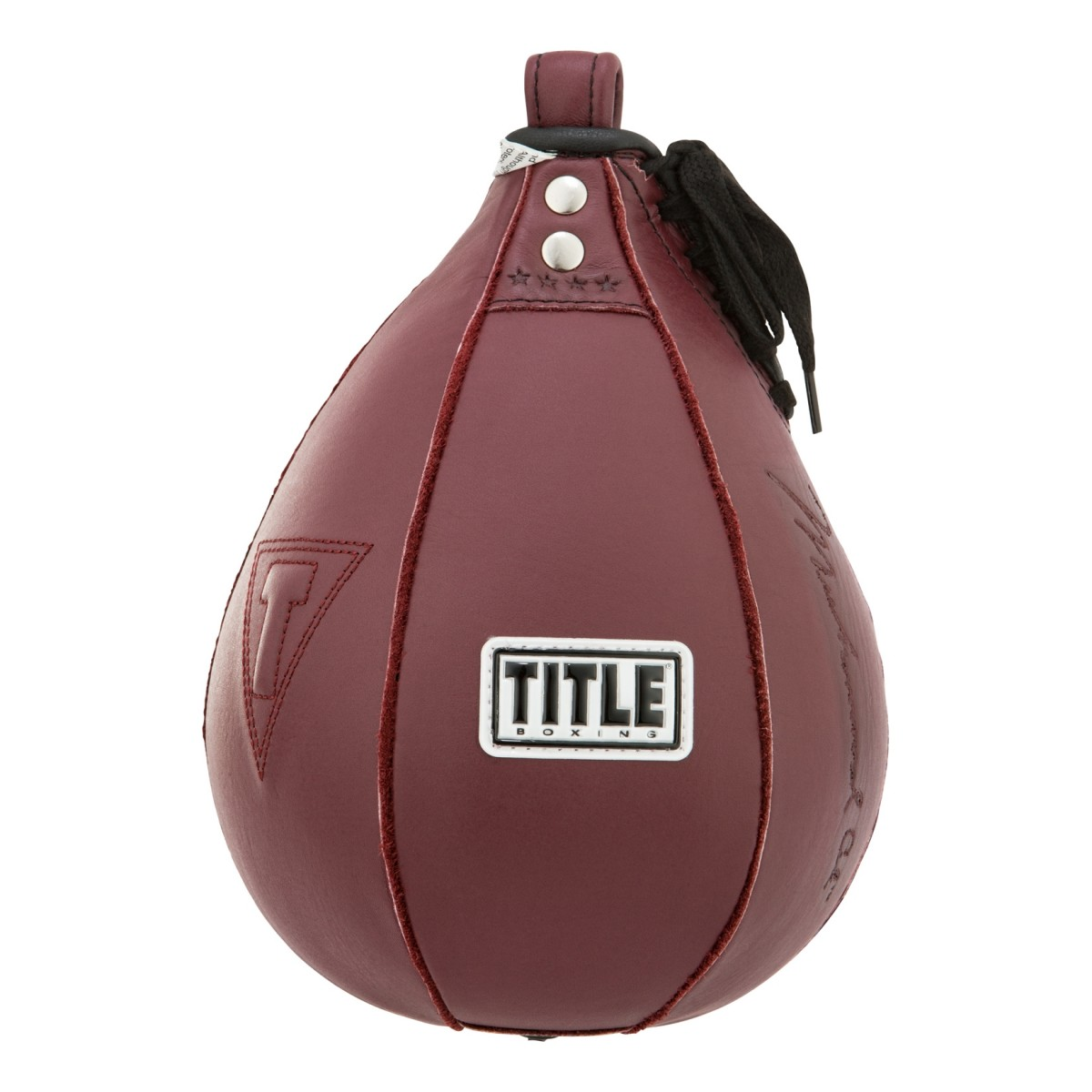 Title Boxing Ali Authentic Leather Double End Bag Maroon