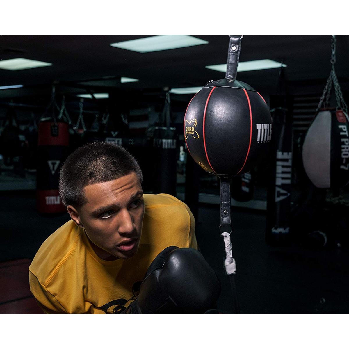 Title Black Boxing Double End Bag