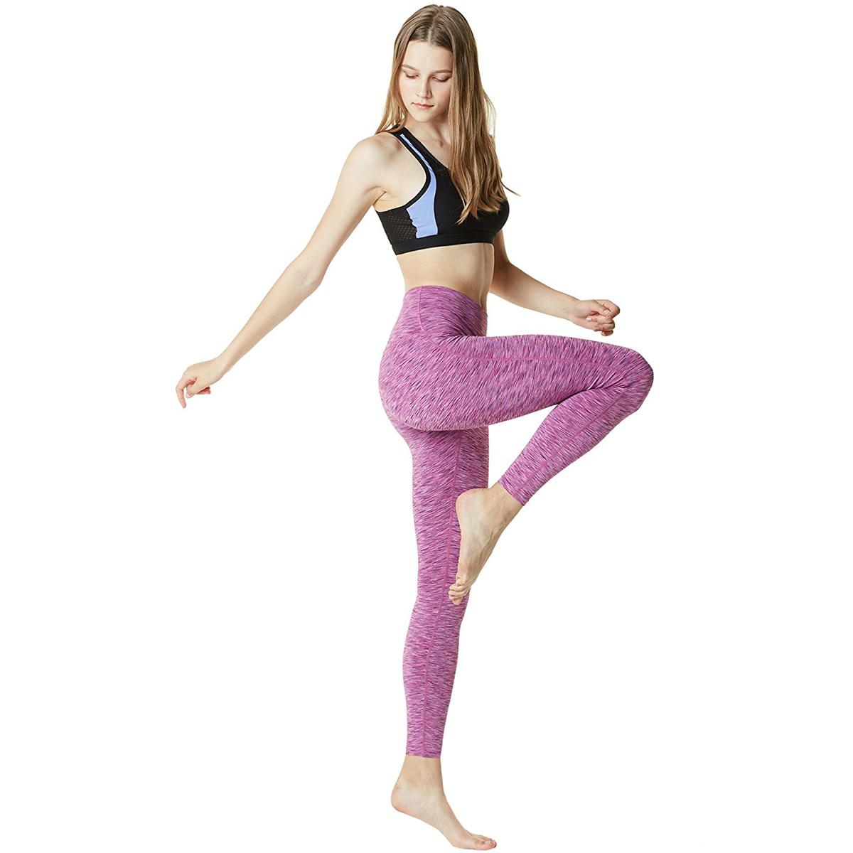 thumbnail 95 - TSLA Tesla FYP42 Women's High-Waisted Ultra-Stretch Tummy Control Yoga Pants