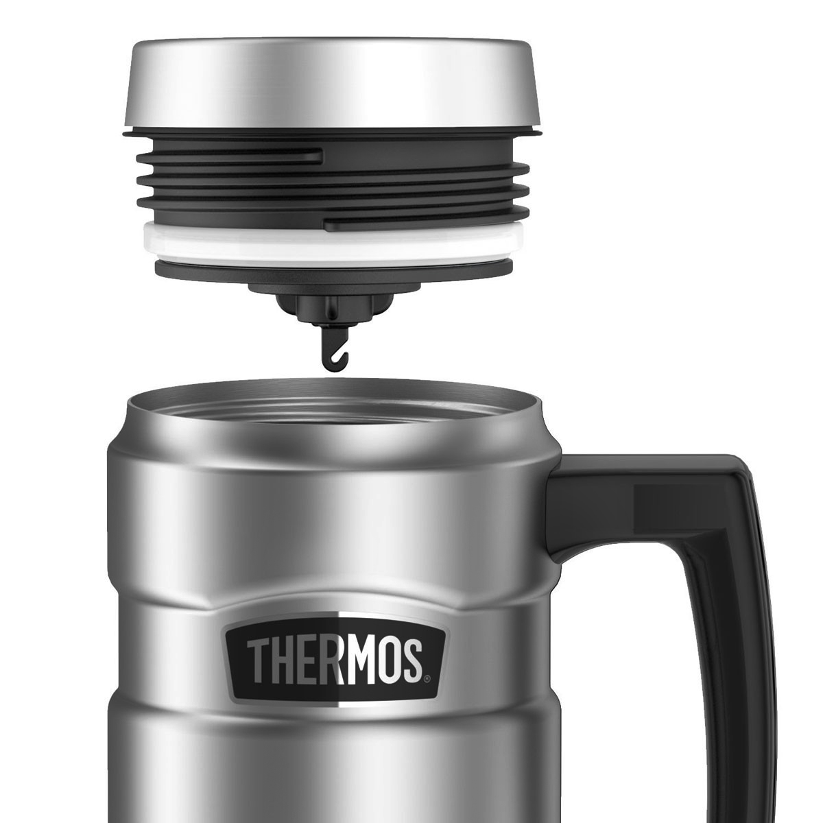 thumbnail 26 - Thermos 16 oz. Stainless King Insulated Stainless Steel Travel Mug with Handle