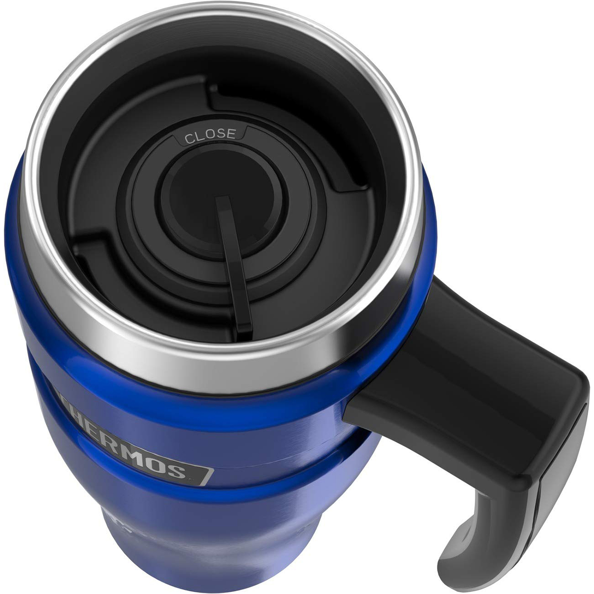 thumbnail 9 - Thermos 16 oz. Stainless King Insulated Stainless Steel Travel Mug with Handle