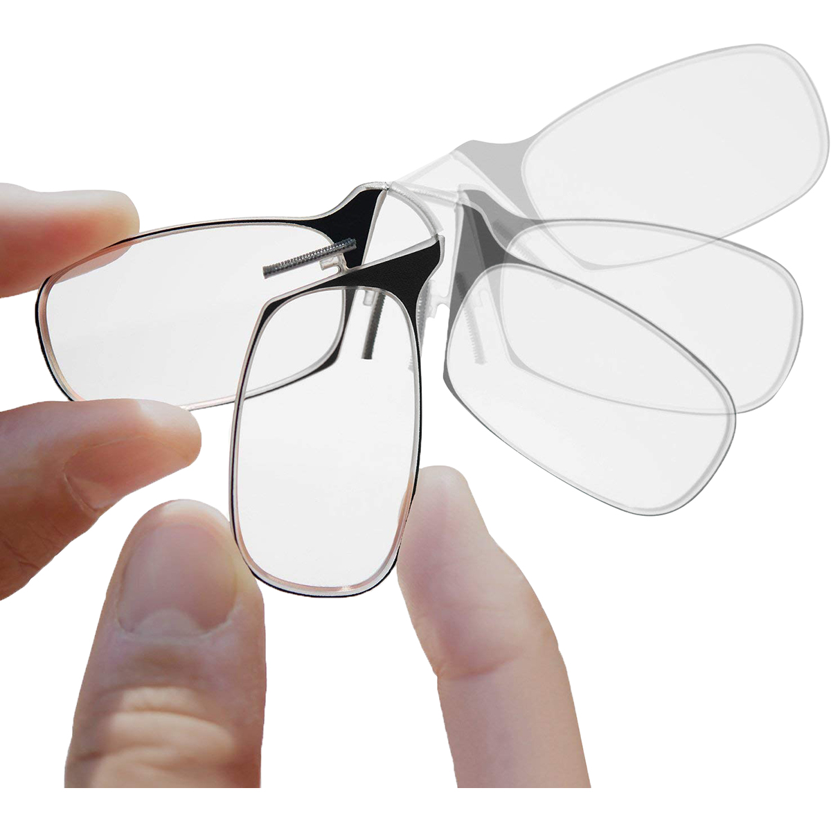 ThinOptics-Secure-Fit-Armless-Ultralight-Reading-Glasses-with-Universal-Pod-Case thumbnail 9