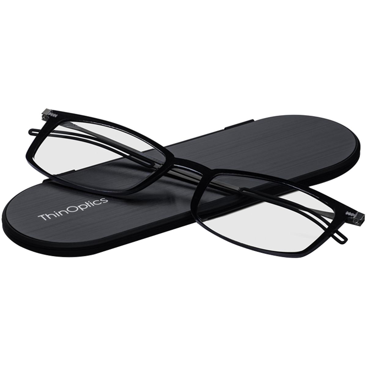 thumbnail 3 - ThinOptics FrontPage Brooklyn Reading Glasses with Milano Case