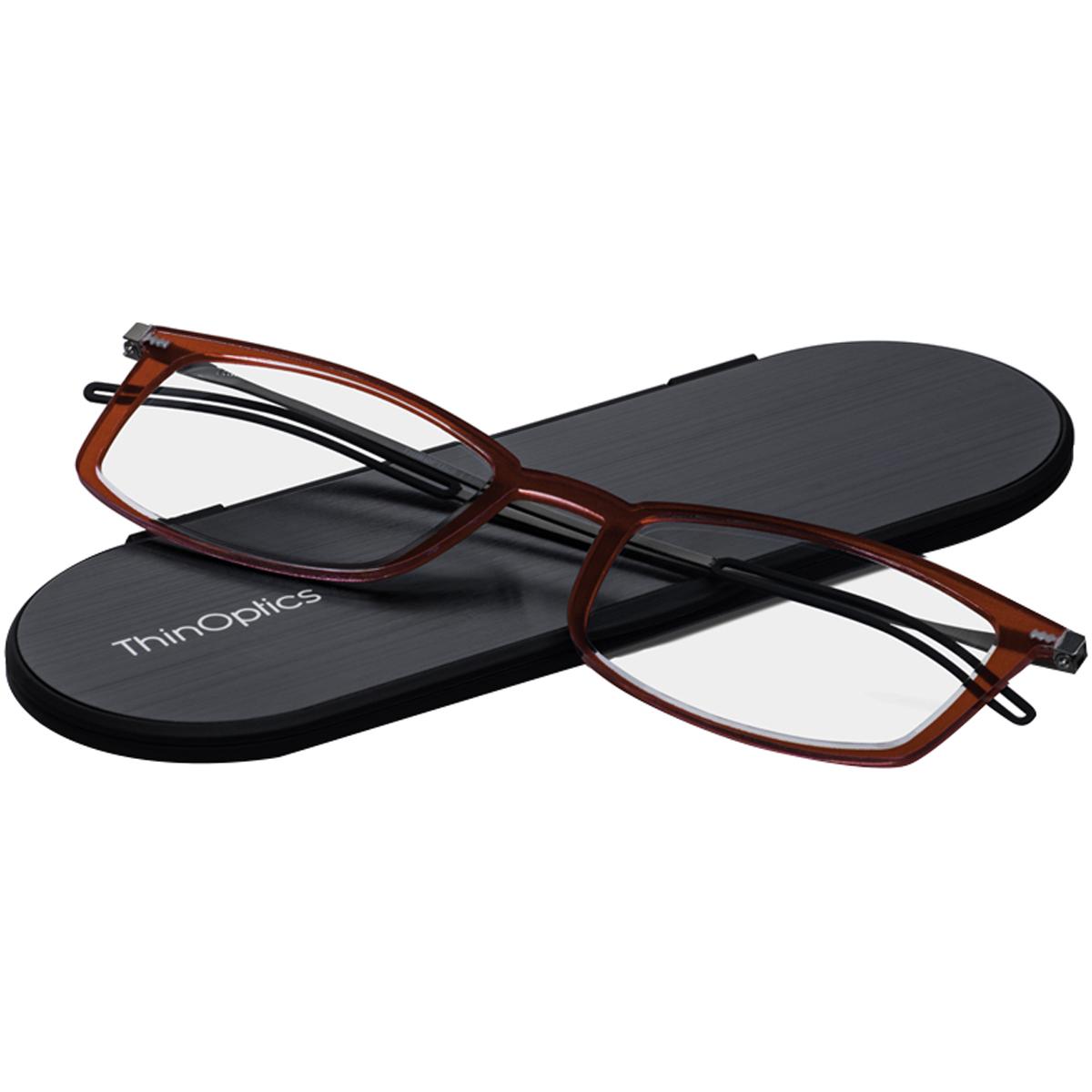 thumbnail 9 - ThinOptics FrontPage Brooklyn Reading Glasses with Milano Case