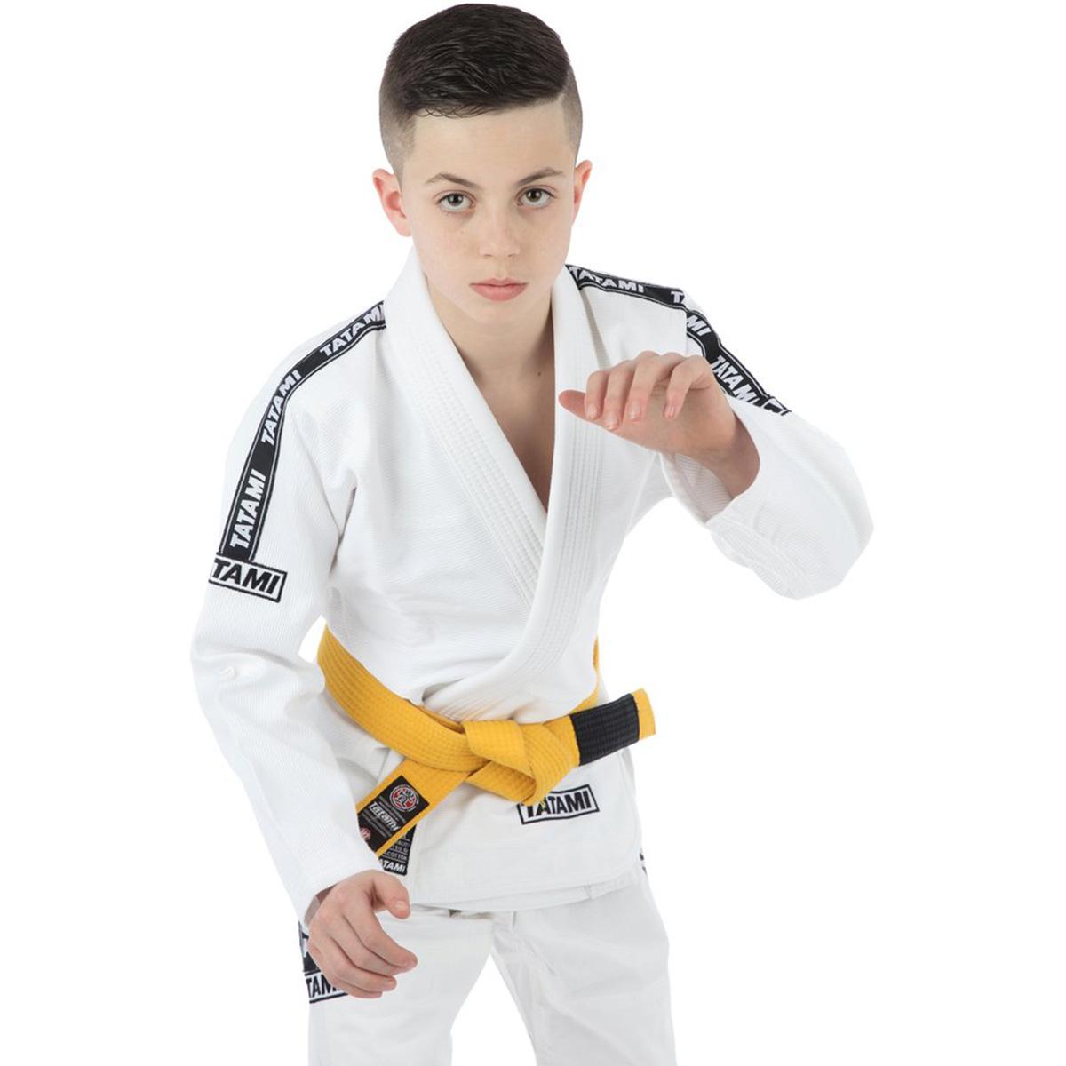 Tatami Fightwear Kid/'s Roots BJJ Gi White