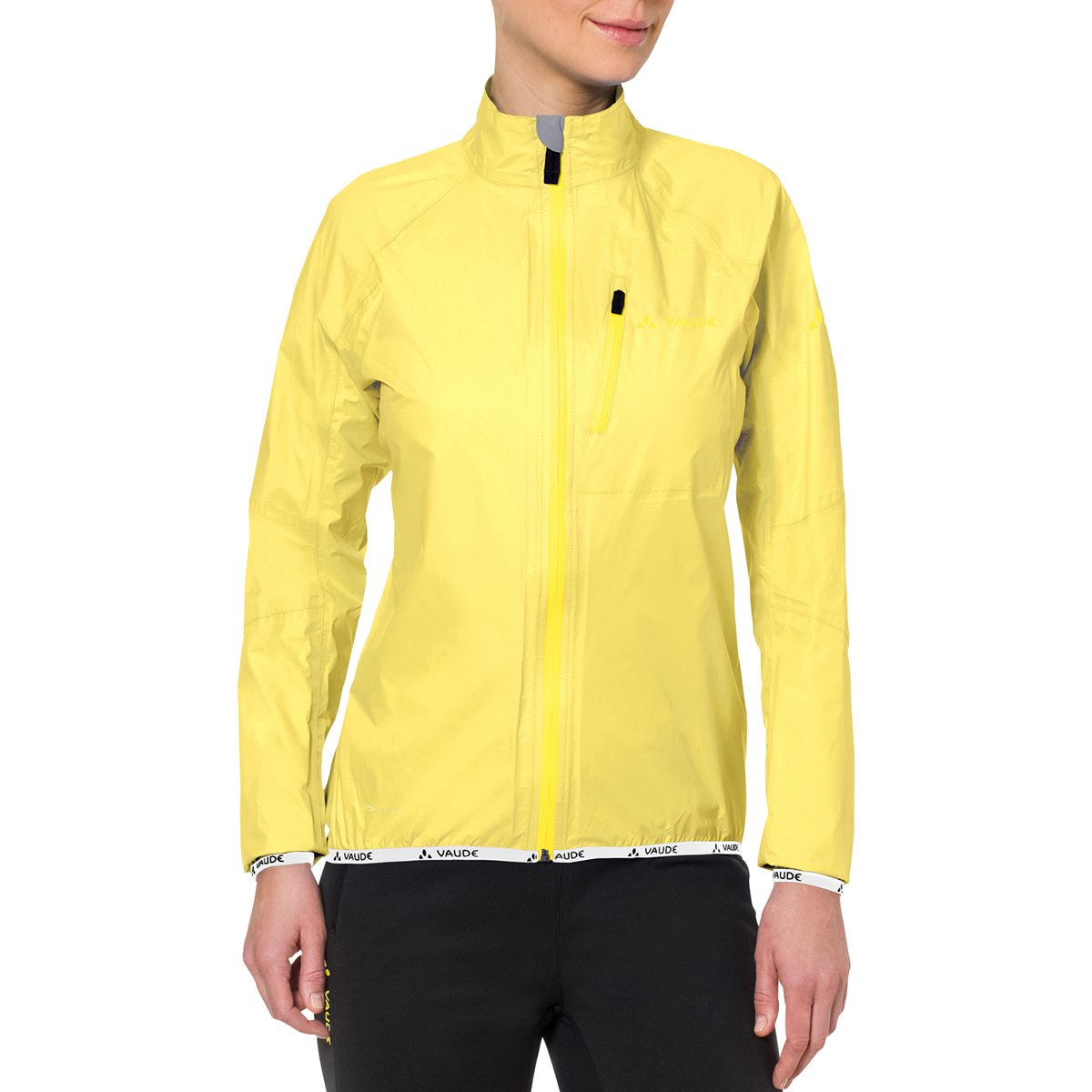 special section clear-cut texture limpid in sight Details about Vaude Women's Drop Biking Rain Jacket III - Mimosa