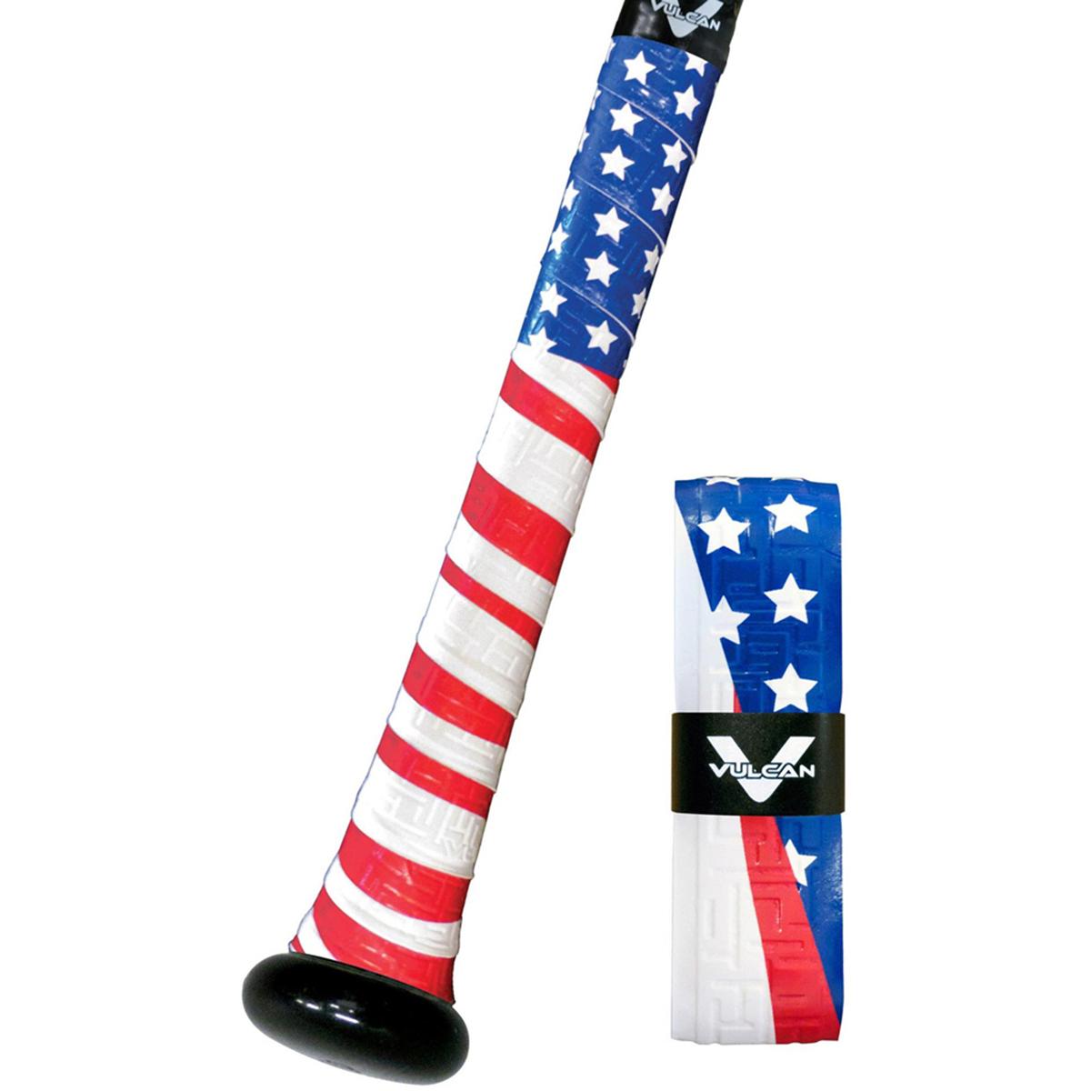 f4c54faeecdb Vulcan USA Series 1.75mm Ultralight Polymer Bat Grip Tape Wrap - Old Glory
