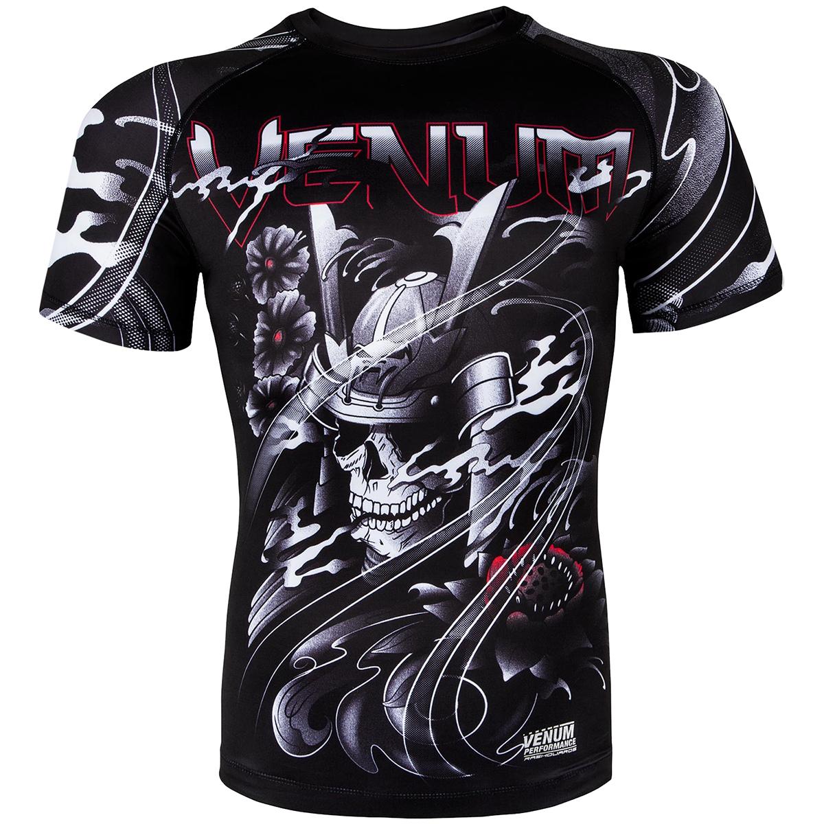 b59ef2ce9c8c2e Venum Samurai Skull Short Sleeve MMA Rashguard - XS - Black