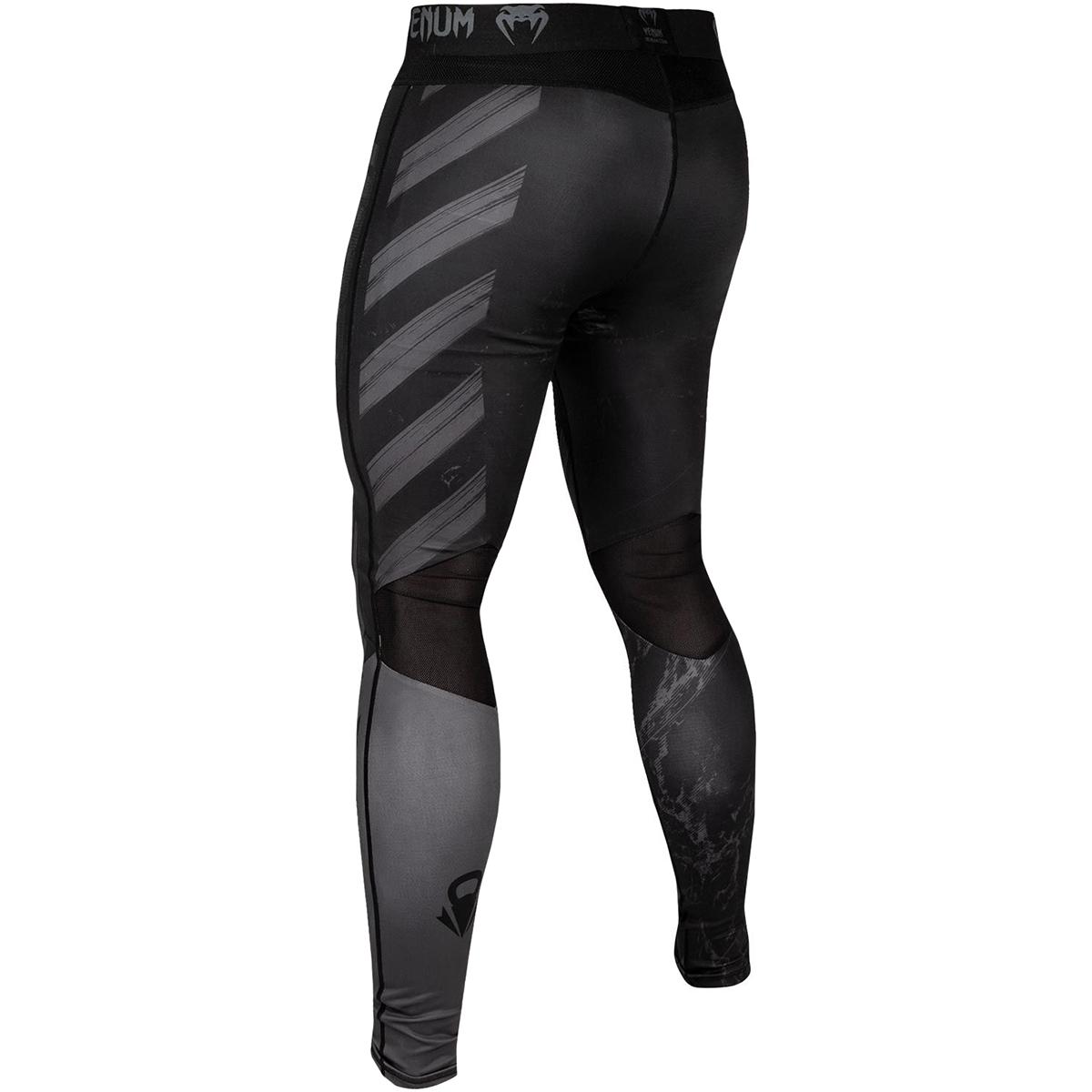 Black//Gray Venum AMRAP Compression Shorts
