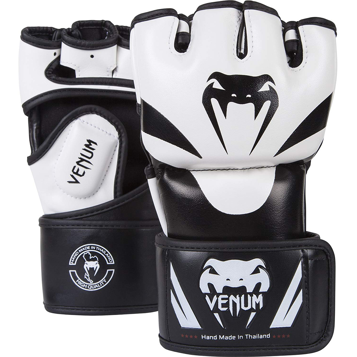 Red//Black Century Drive Thumbless Open Palm MMA Fight Gloves