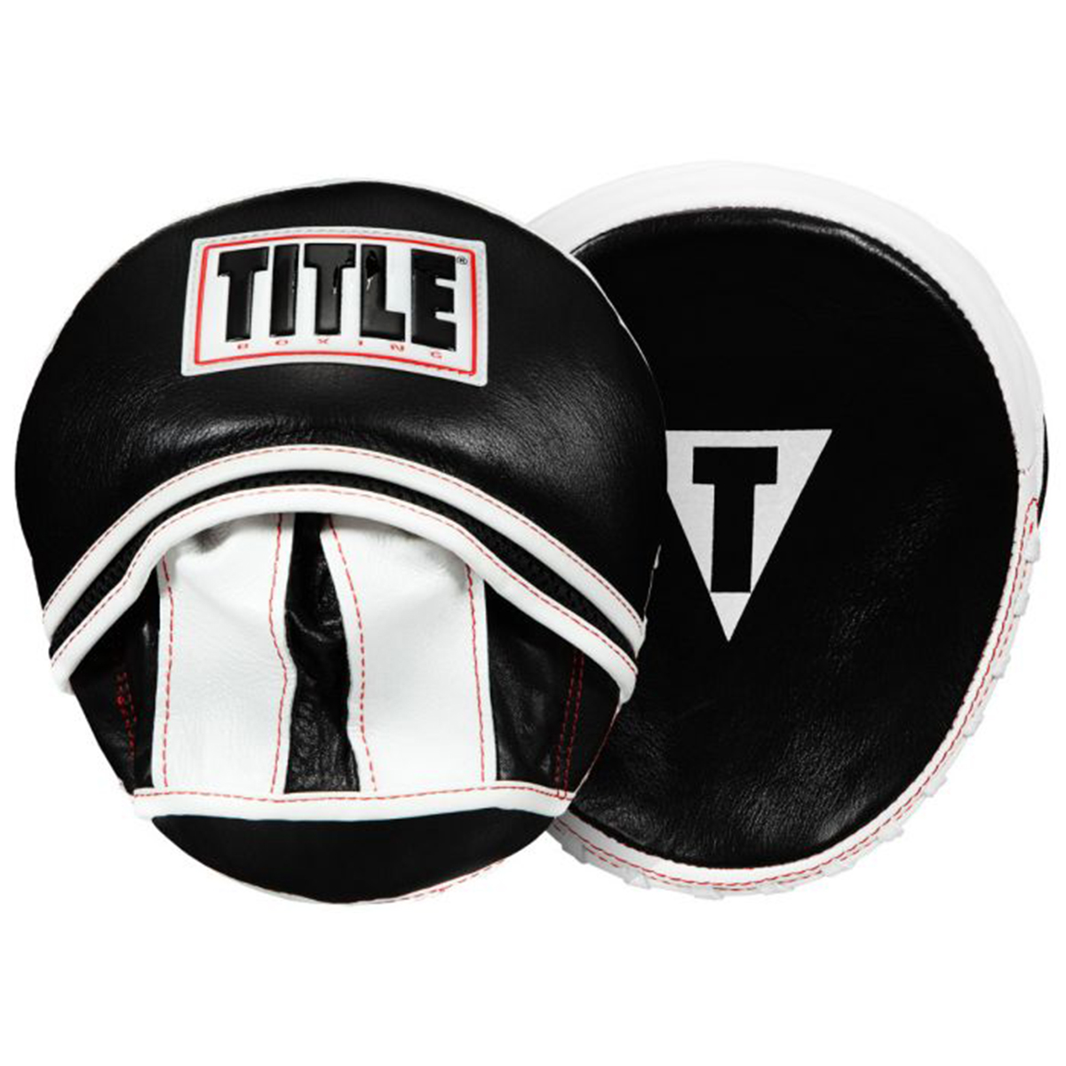 Black//Red//Gold Title Boxing Fist Micro Mitts